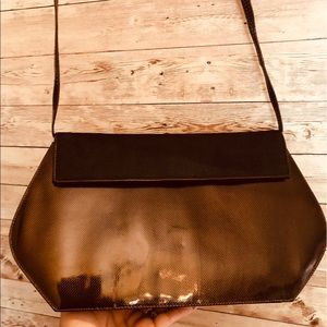 Vintage small chocolate brown crossbody Scepi